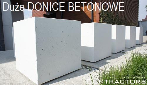 duże donice betonowe
