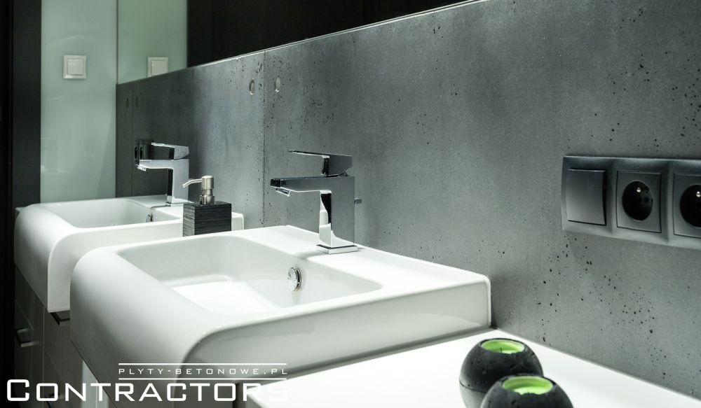 Płyty Betonowe W łazience Dom Jednorodzinny Rzeszów