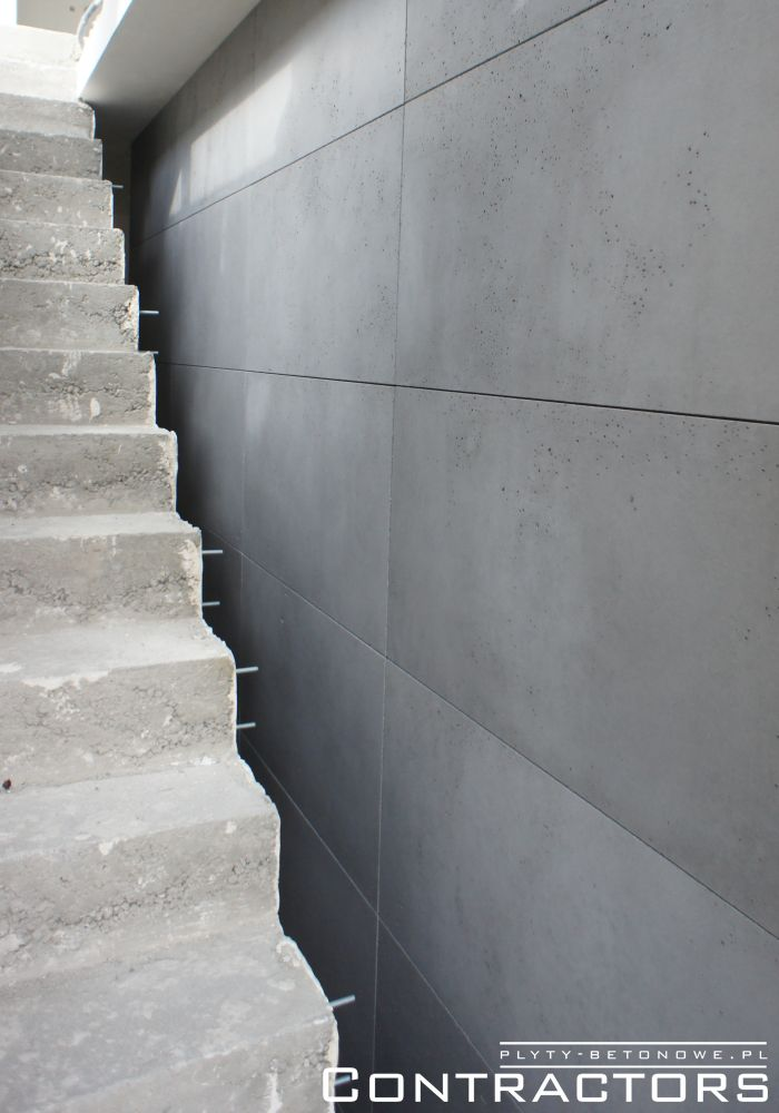 Concrete panels by the staircase Cracow
