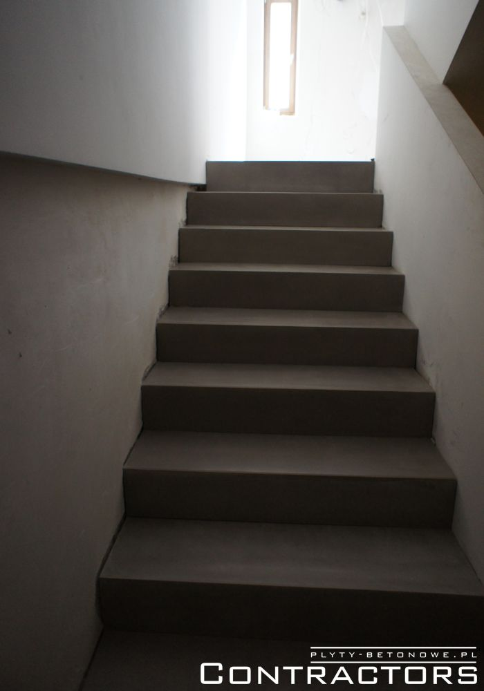 Concrete floor and stairs Cracow