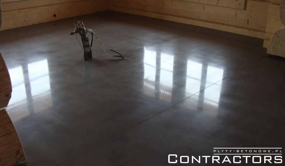 Nietypowy Okaz Ciemna podłoga z betonu polerowanego Białka Tatrzańska CONTRACTORS ZU25
