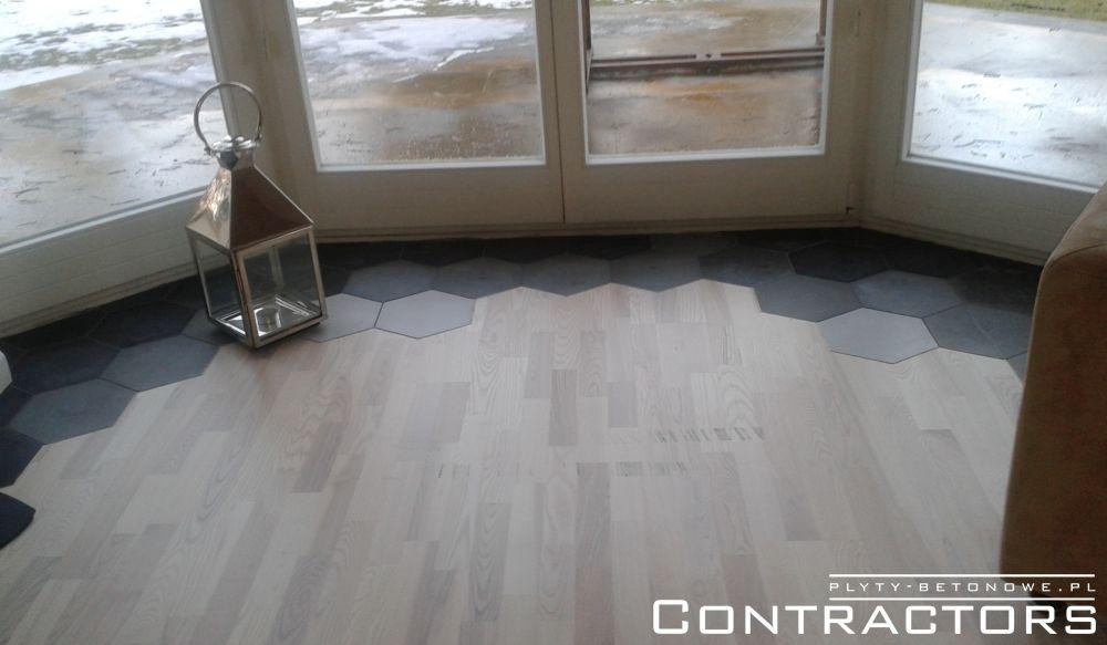 Aktualne Heksagonalne płyty z betonu architektonicznego na podłogę LO78