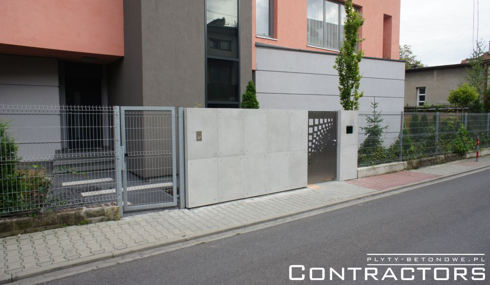 CONCRETE SLABS FOR ELEVATIONS AND FENCE